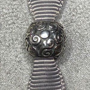 ** PANDORA 'Swirls & Dots' Ball Charm, EUC